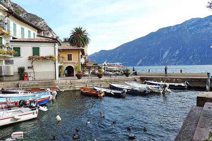 Hafen von Limone sul Garda