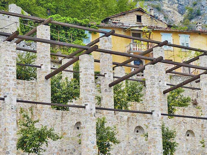Der Zitronengarten in Limone sul Garda