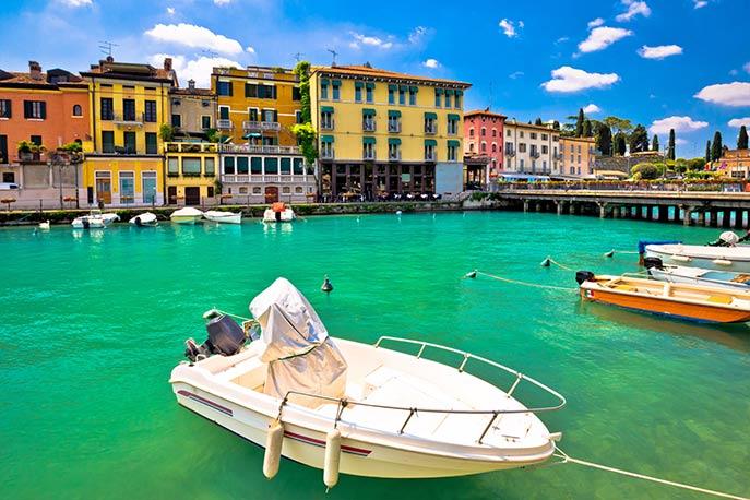Hafen von Peschiere del Garda