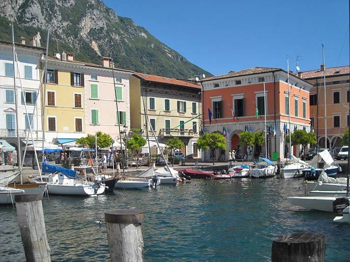 Stadtbild von Riva del Garda